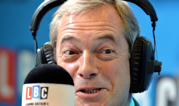 Nigel Farage on LBC show