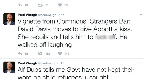 Paul Waugh Diane Abbott tweet