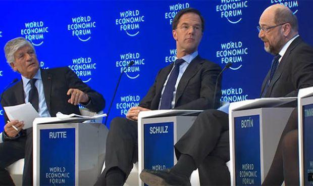 Mark Rutte and Martin Schulz