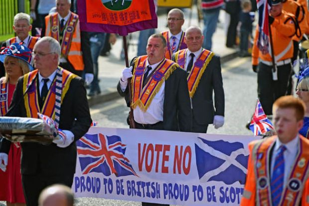 Scottish supporters of the UK