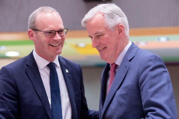 Simon Coveney and Michel Barnier