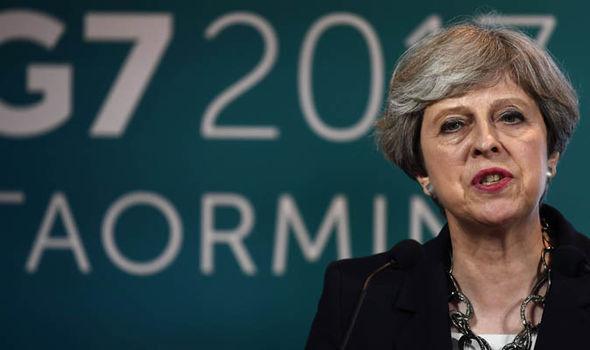 Theresa May in Sicily