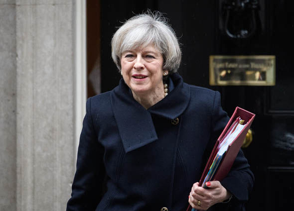 Theresa May leaves Number 10 for the Commons