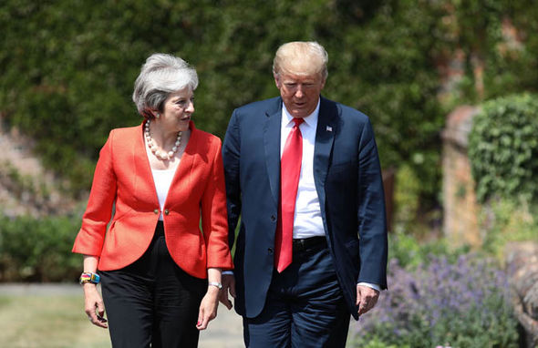 Tory party chaos: May and Trump   Tory party week of CHAOS: Boris senses Theresa May is 'wounded animal' as Trump takes aim | Politics | News Tory party chaos 1419465