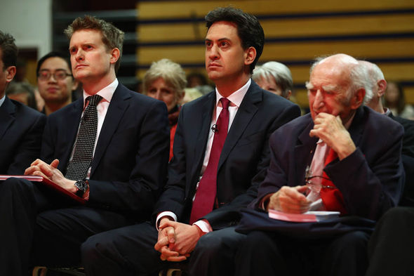Tristram Hunt with former leader Ed Miliband