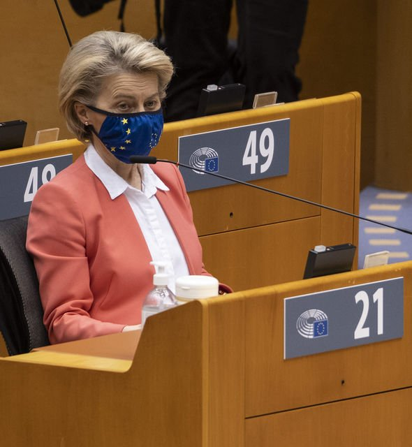 Belgium / Brussels / Brussels - The head of the European Commission spoke today before the European Parliament. 26-Apr-2021