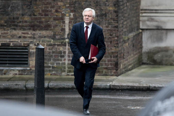 David Davis walks towards parliament