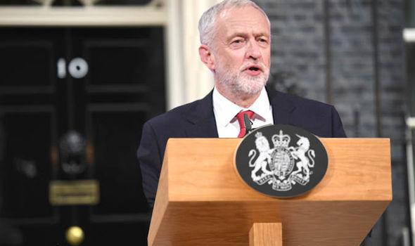 Jeremy Corbyn outside of No 10