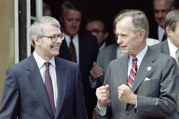 John Major and George H Bush