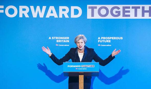 Theresa May launches Tory manifesto