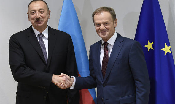 Donald Tusk met with Azerbaijani president Ilham Alive today