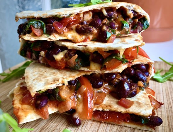 Black Beans Quesadilla's
