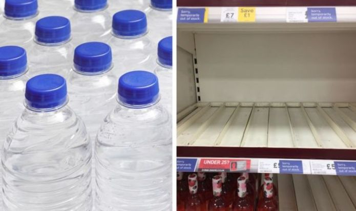 'Tons of gaps': Supermarkets hit by bottled water shortage amid surging production issues