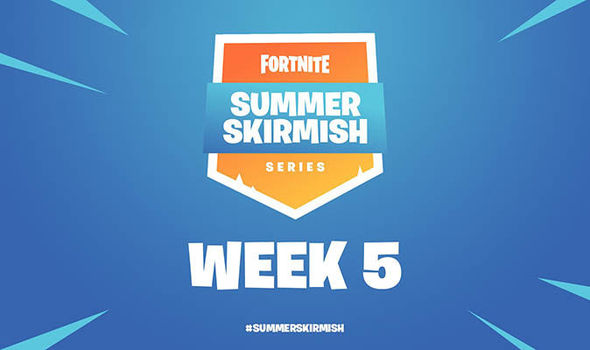 fortnite summer skirmish week 5 results standings twitch live stream start time rules