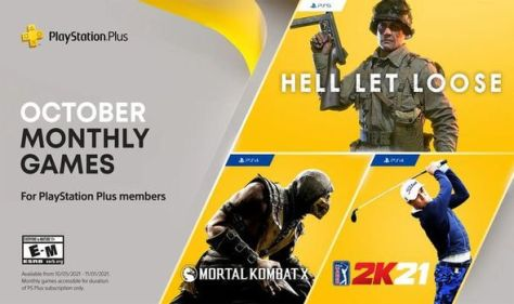 Hell Let Loose on PS5 and Mortal Kombat on PS4 for PlayStation Plus October