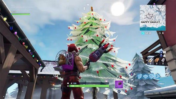 Fortnite Christmas trees