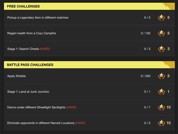 Fortnite challenges