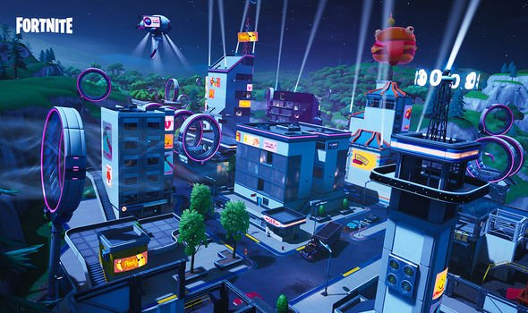 Futuristic Tilted Towers