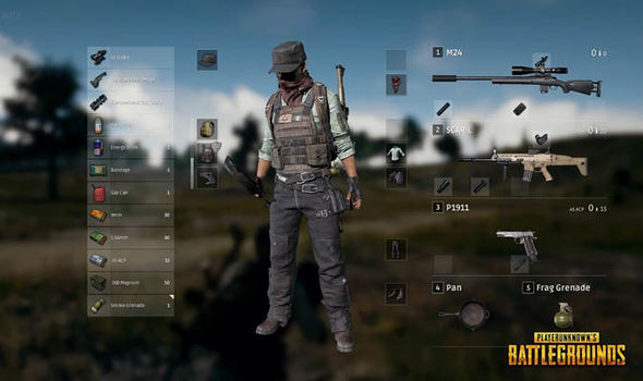 The issue was with the PUBG Inventory screen