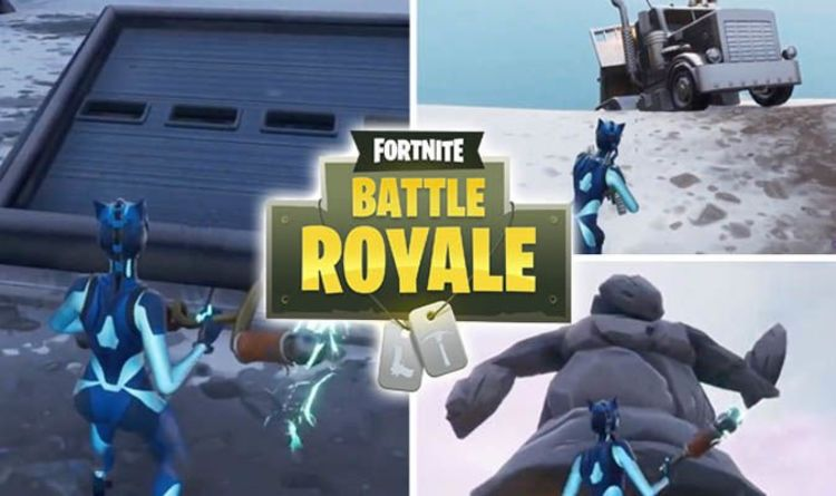 Fortnite Search Between Mysterious Hatch Giant Rock Lady