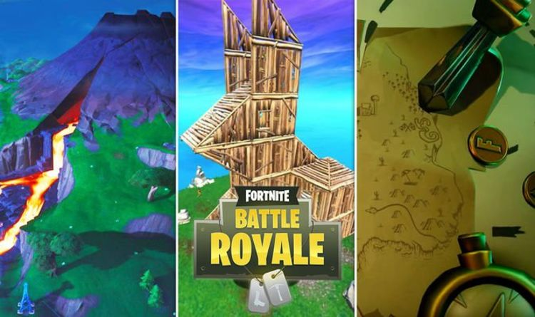 fortnite highest elevations wooden rabbit knife points on map and all week 6 challenges - fortnite search where the knife points on the treasure map loading screen location