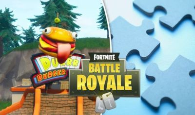 fortnite jigsaw pieces paradise park treasure map giant phones and all week 8 challenges - fortnite motel or rv park