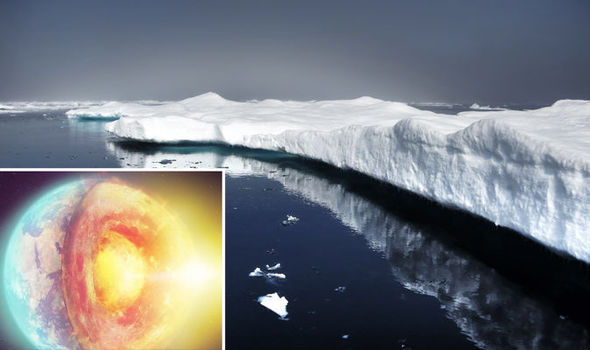 Heat from the earth's core is melting the base of the Greenland ice sheet.