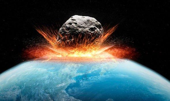 An asteroid impact