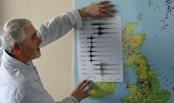 David Galloway showing earthquake stats