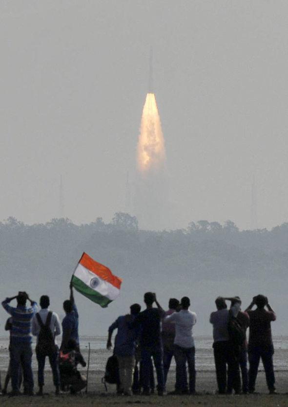 Indian satellite launch
