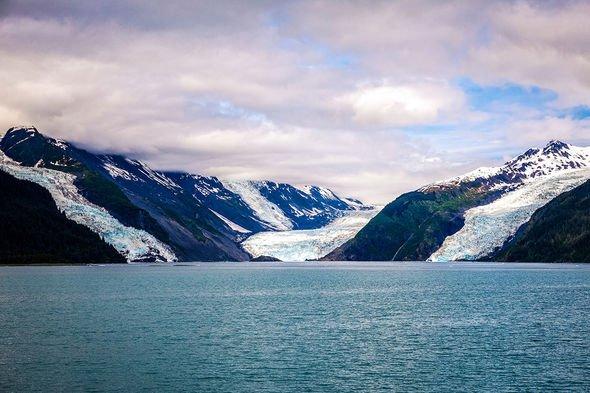 Mega-tsunami threat: Barry Arm fjord in Alaska