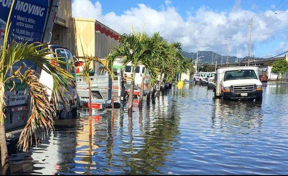 High-tide flooding in Hawaii