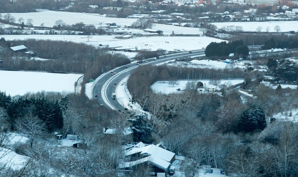 Britain had a white Christmas