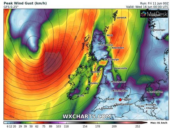 UK heatwave: Low pressure could sweep in from the Atlantic next week