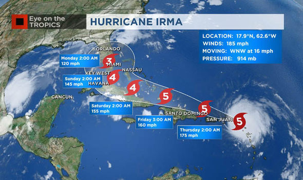 Image result for images of Hurricane IRMA map