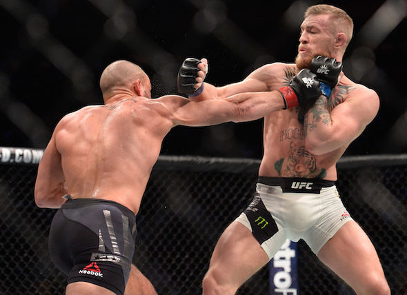 Conor McGregor in a UFC fight