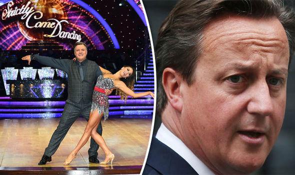 Ed Balls, Katya Jones and David Cameron