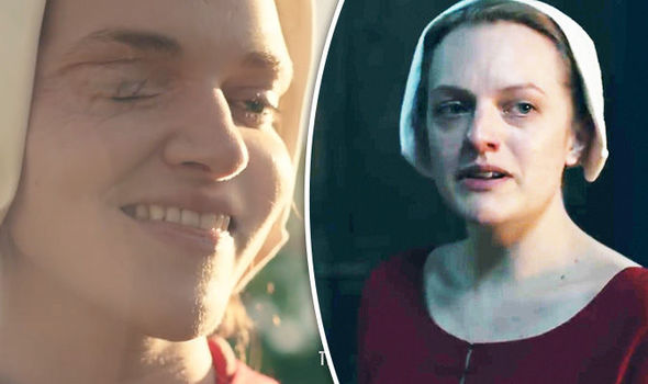 Elisabeth Moss stars as Offred in the drama