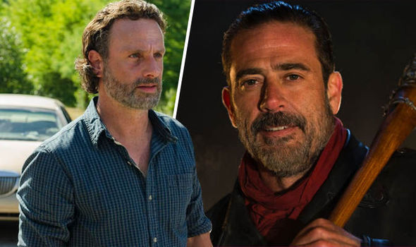 Rick Grimes and Negan in The Walking Dead