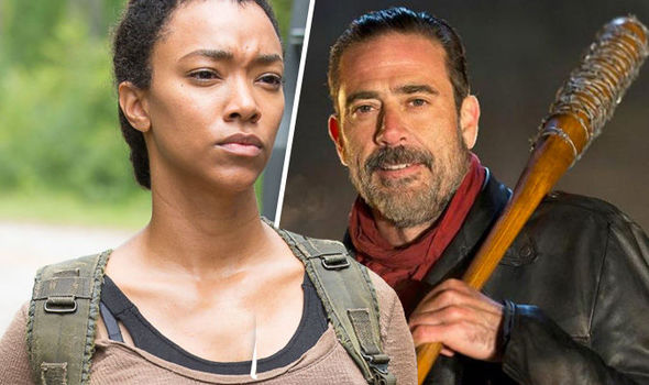 Sasha Williams and Negan in The Walking Dead