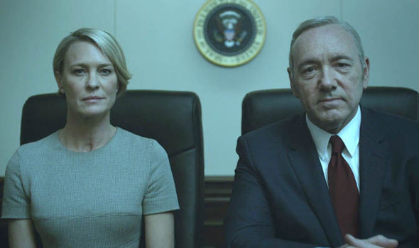 Frank and Claire Underwood on House of Cards