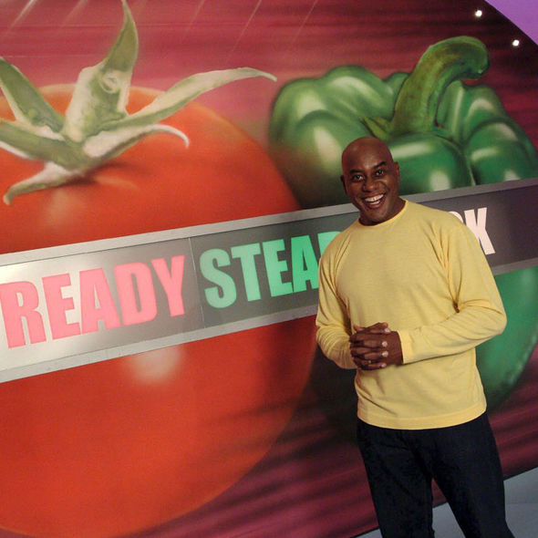 Ainsley Harriott on the set of Ready Steady Cook