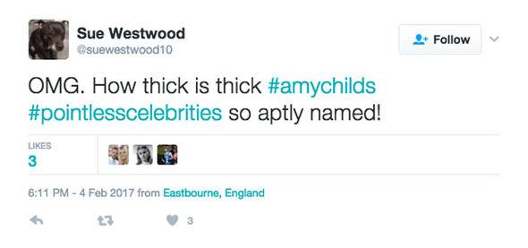 Amy Childs Pointless Celebrities bimbo