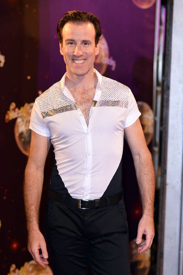 Anton Du Beke on red carpet