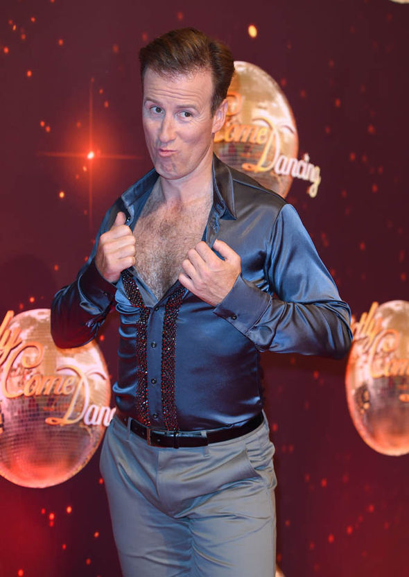 Anton Du Beke with an open shirt
