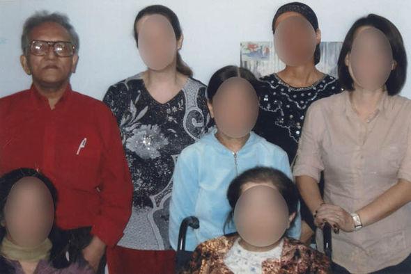Balakrishnan with the women