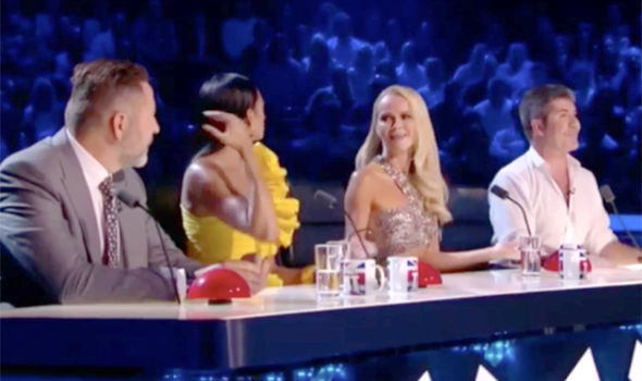 Amanda Holden was left shocked by the botox comment on Britain's Got Talent