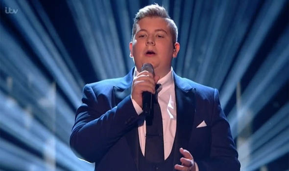 Golden Buzzer act Kyle Tomlinson performs during the semi-finals