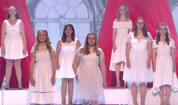 A schoolgirl choir from Wales opens the show on Britain's Got Talent