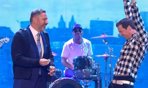 Jonny Awsum and David Walliams perform on Britain's Got Talent